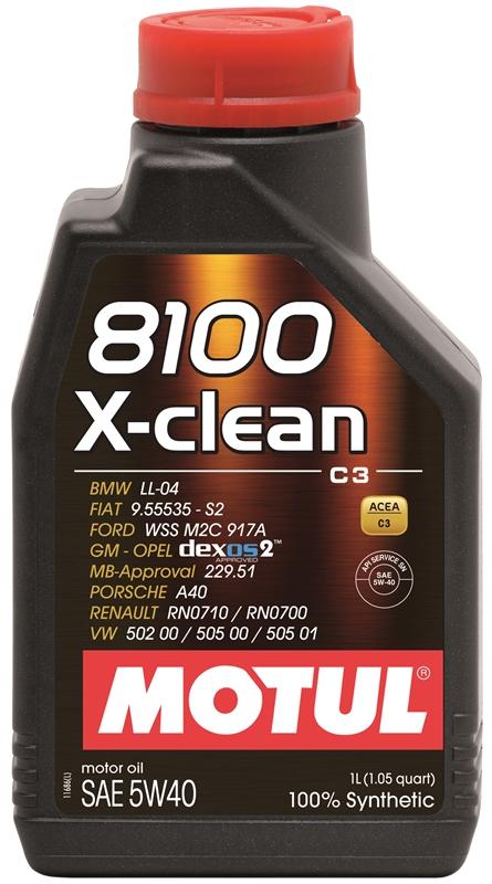 Купить Моторное масло MOTUL 8100 X-CLEAN 5W-40