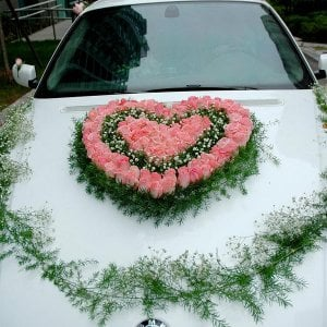 Buy Let's issue the wedding car according to your desire. Registration of any complexity from the flowers preferred by you.