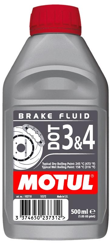 Тормозная жидкость DOT 3&4 BRAKE FLUID