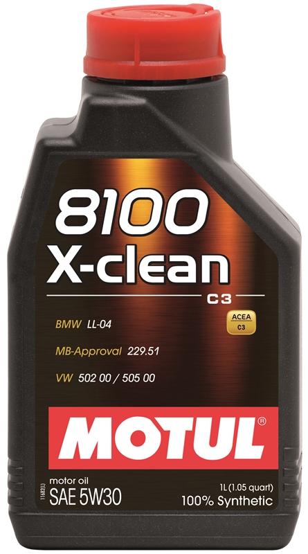 Купить Моторное масло MOTUL 8100 X-CLEAN 5W-30