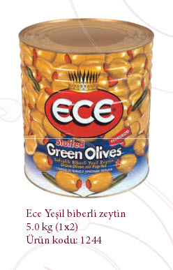 Купить Зеленые оливки Ece Yeşil biberli zeytin 5.0 kg 1244