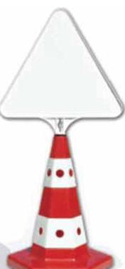 Конусы с треугольной пластинкой
