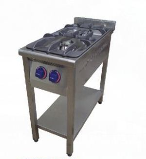 Печь газовая двух конфорочная с нижней полкой 01А0032001