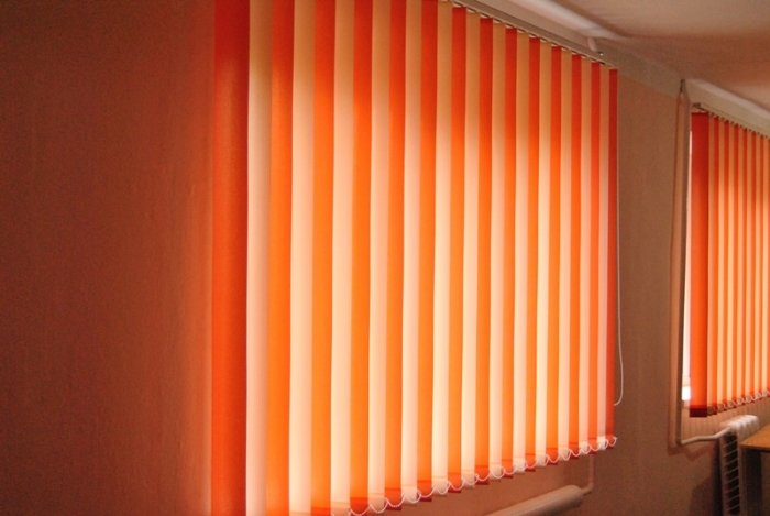 Blinds are vertical