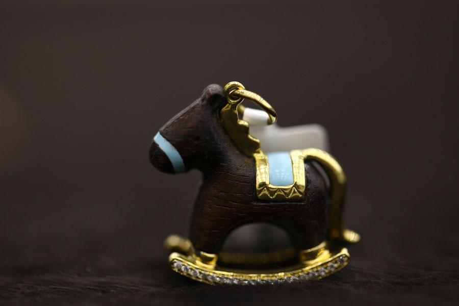 Buy Pendent gold children's horse
