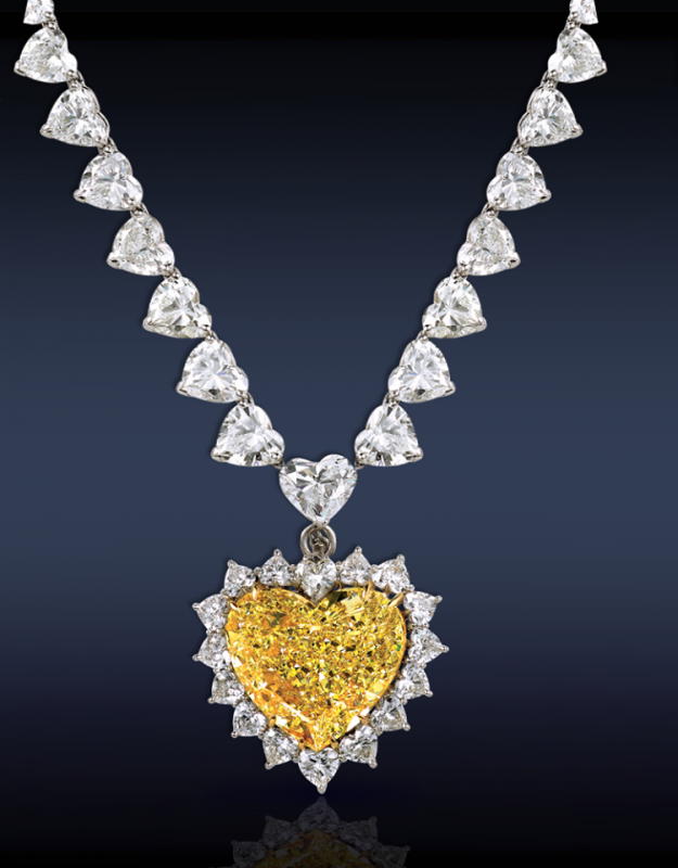 Buy Necklace with yellow diamond