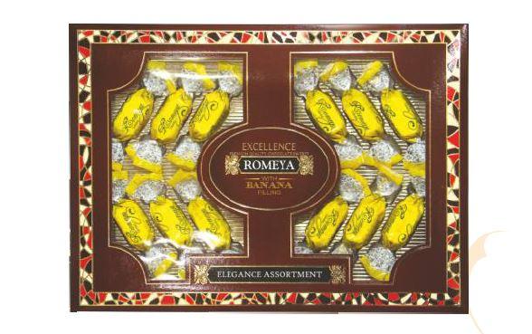 Купить Шоколадные конфеты с желейной начинкой Romeya banan