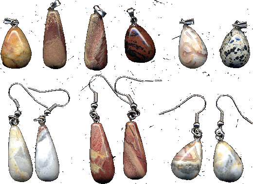 Buy Suspension brackets and earrings from a jasper