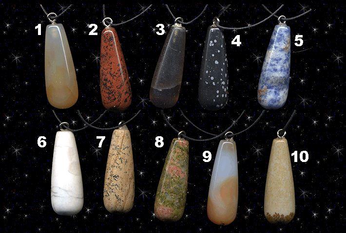Купить Биолокационные маятники-подвески на шнуре из натуральных камней-самоцветов
