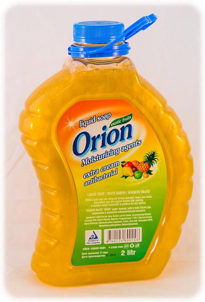 Orion ekzotik meyvəli aroma ilə maye sabun, antibakterial. 2L