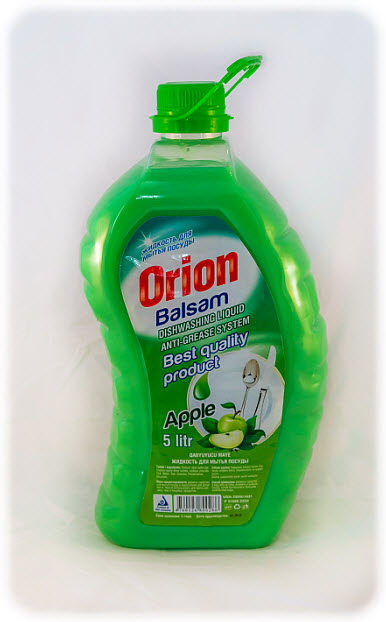 The ORION dishwashing balm with aromas apples of 5 l