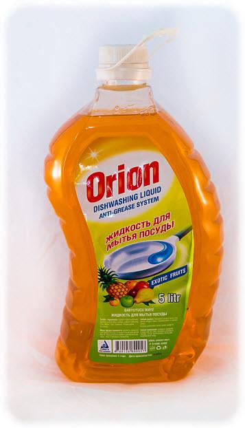 Жидкость для мытья посуды Orion 5 литр с ароматам экзотических фруктов