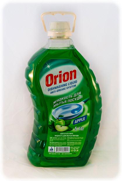 Жидкость для мытья посуды Orion 5 литр с ароматам яблоки