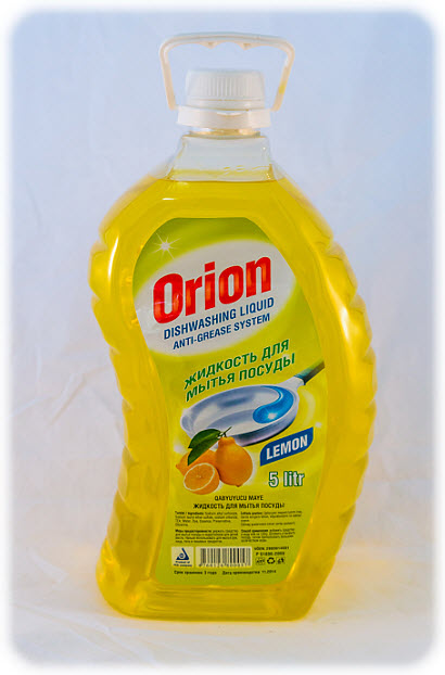 Means for washing of ware of 5 liters of Orion with aromas lemon