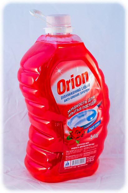 Средство для мытья посуды Orion, с ароматом красной розы, 5 л