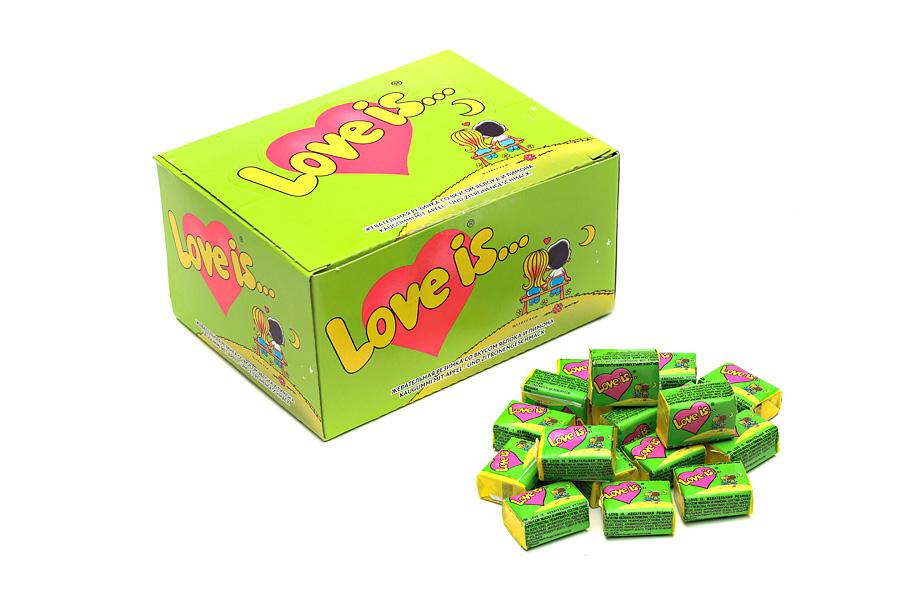 Купить Жевательная резинка Love is... со вкусом яблока и лимона