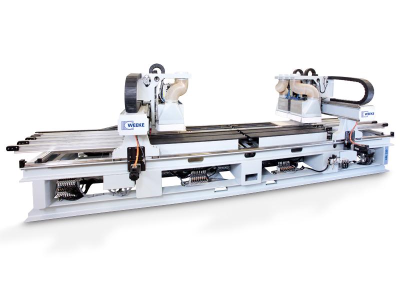 Сверлильно-присадочный станок с ЧПУ WEEKE ABL 110-230 для обработки корпусов