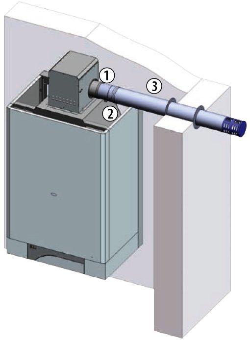 Купить Отвод дыма котла THERM TRIO 90 T ø 100