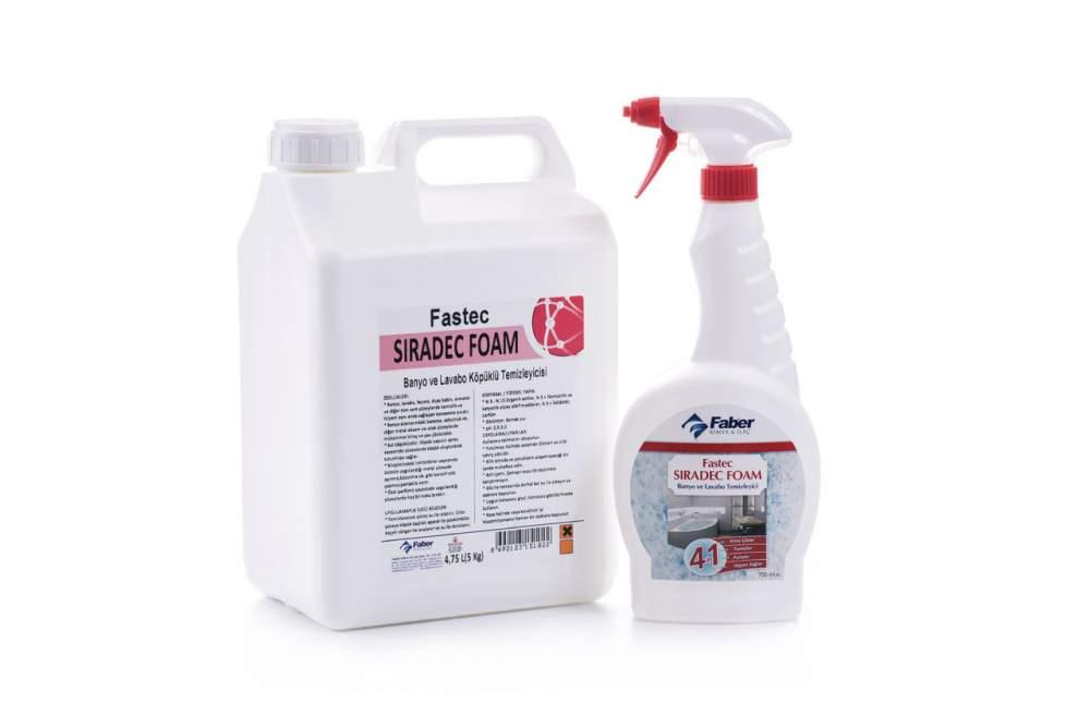Купить Cредство для очистки самых сложных мыльных и известковых загрязнений на поверхностях в ванной комнате SIRADEC FOAM