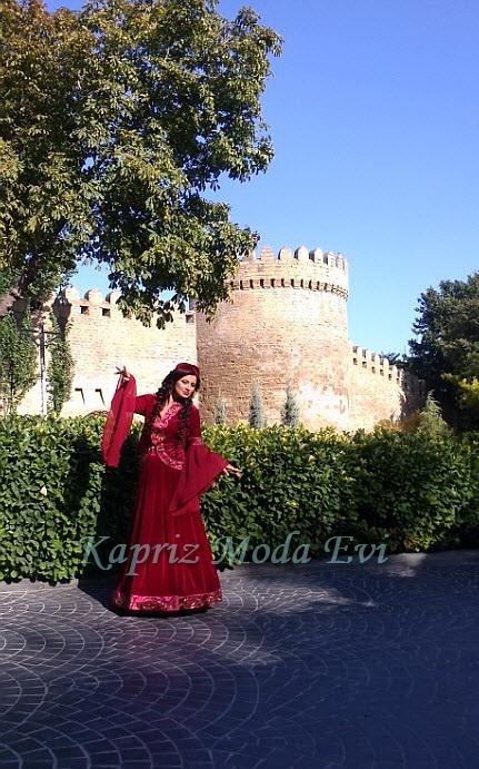 Купить Национальная женское платье Азербайджана