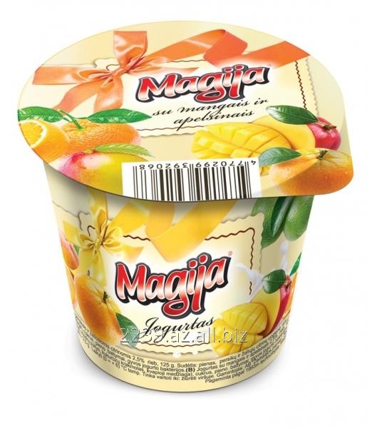 Buy Magija yogurt with mango and oranges