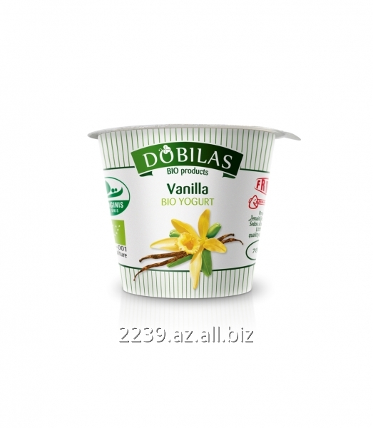 Buy Ecological Dobilas yogurt with vanilla of 125 - 300 g