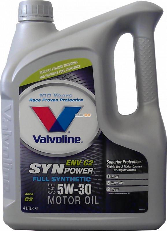 Купить Моторное масло для легковых автомобилей SynPower ENV C2 5W-30