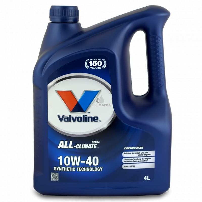 Купить Всесезонное моторное масло для легковых автомобилей All-Climate Extra 10W-40
