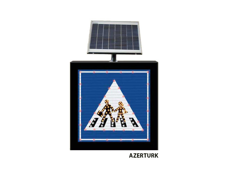 Buy LED road signs on solar power stations