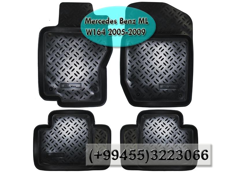 Купить Mercedes ML W164 2005-2009 üçün poliuretan ayaqaltilar, Полиуретановые коврики для Mercedes ML W164 2005-2009.