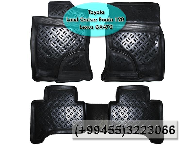 Купить Toyota Land Cruiser Prado 120 LC120 və Lexus GX470 üçün poliuretan ayaqaltilar, Полиуретановые коврики для Toyota Land Cruiser Prado 120 LC120 и Lexus GX470.