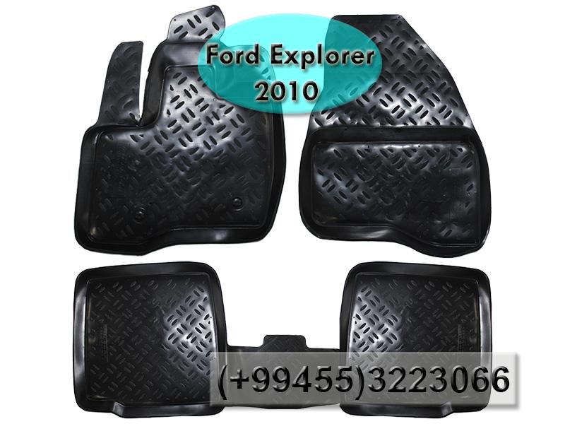 Купить Ford Explorer 2010 üçün poliuretan ayaqaltılar, Полиуретановые коврики для Ford Explorer 2010.