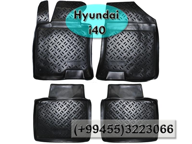Купить Hyundai İ40 üçün poliuretan ayaqaltılar, Полиуретановые коврики для Hyundai İ40.