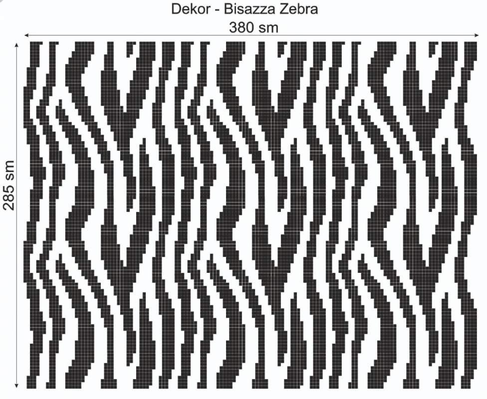 Купить Дизайнерский декор Dek-Bisaz-Zebra-001