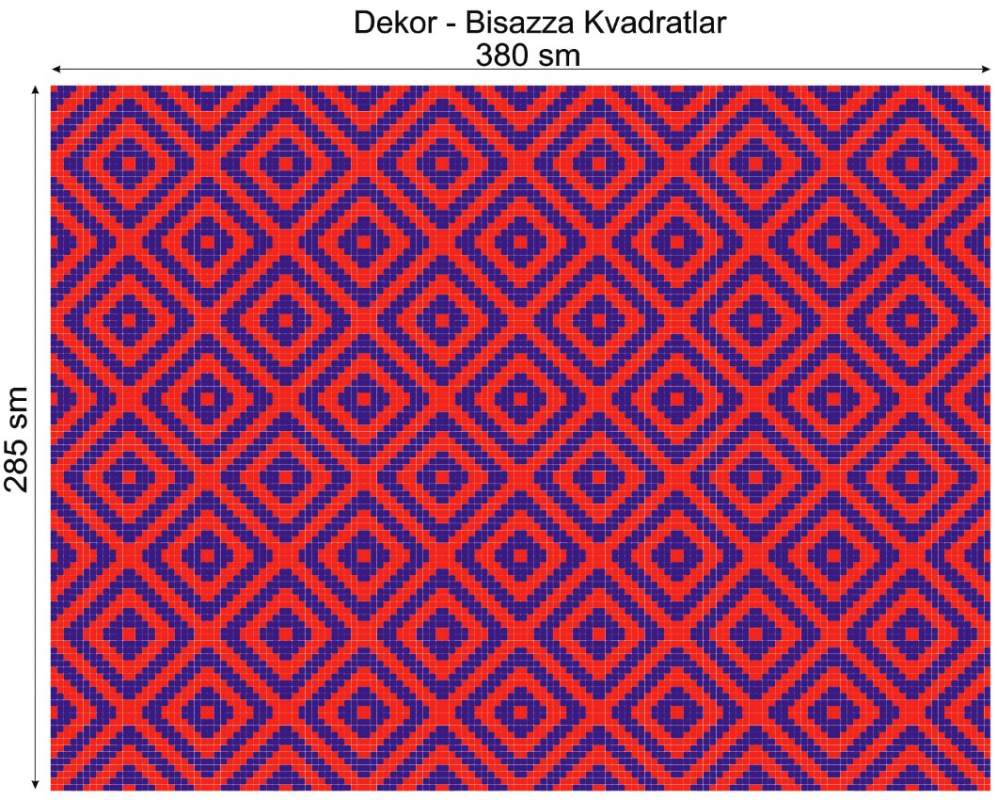 Купить Дизайнерский декор Dek-Bisaz-Kvadratlar-001