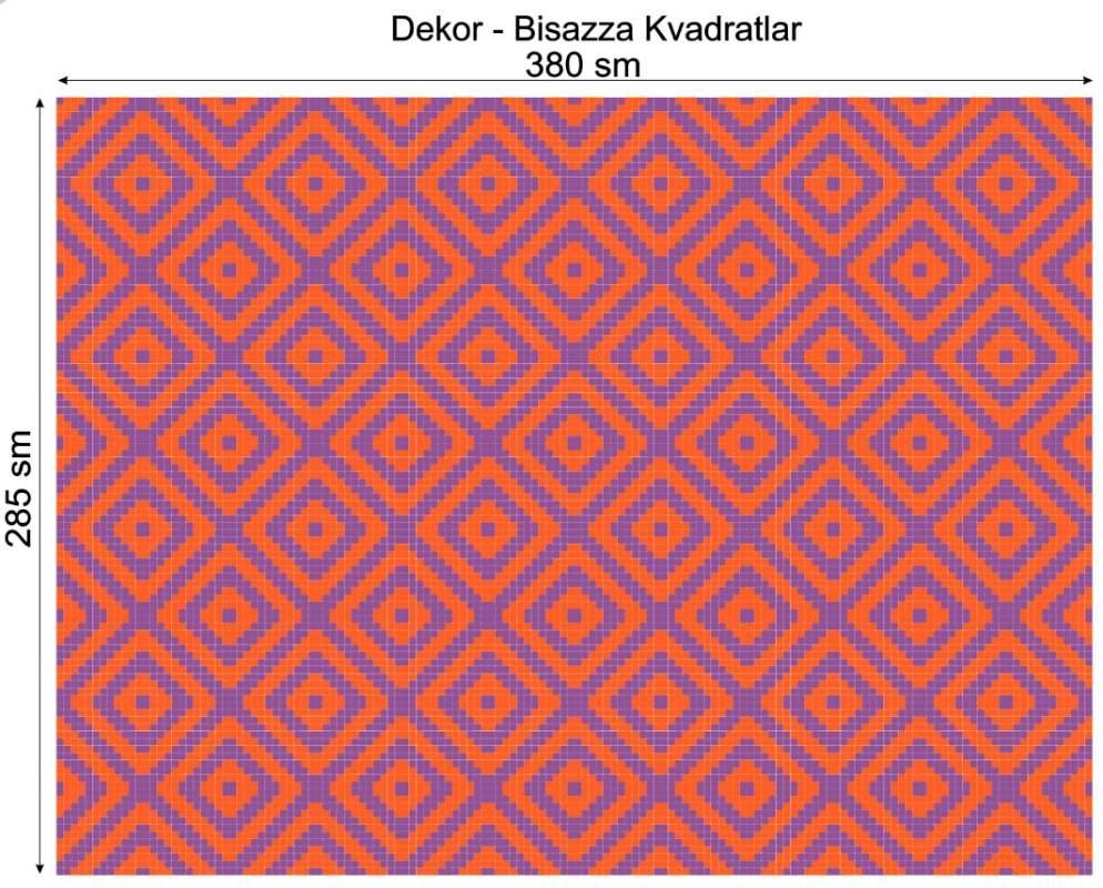 Купить Дизайнерский декор Dek-Bisaz-Kvadratlar-002