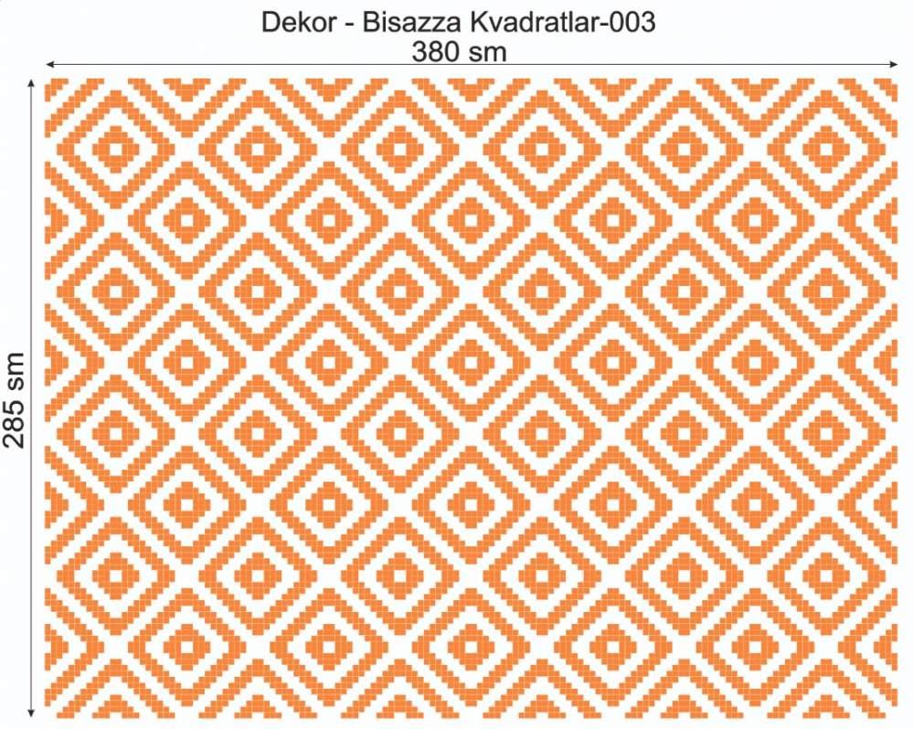 Купить Дизайнерский декор Dek-Bisaz-Kvadratlar-003