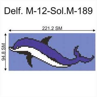 Купить Декор для бассейна Delf.M-12-Sol.M-189