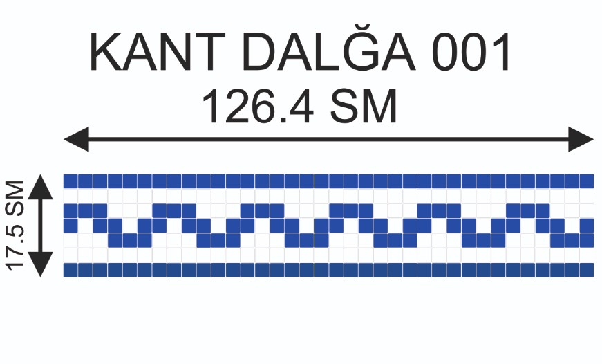 Купить Мозаичный кант Kant-Dalğa-001