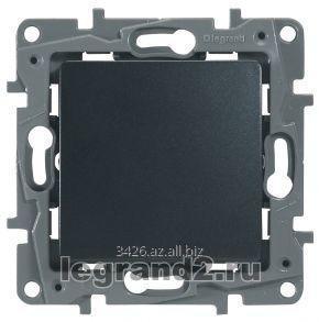 Купить Выключатель одноклавишный - автоматические клеммы - Etika - 10 AX - 250 В~ (антрацит)