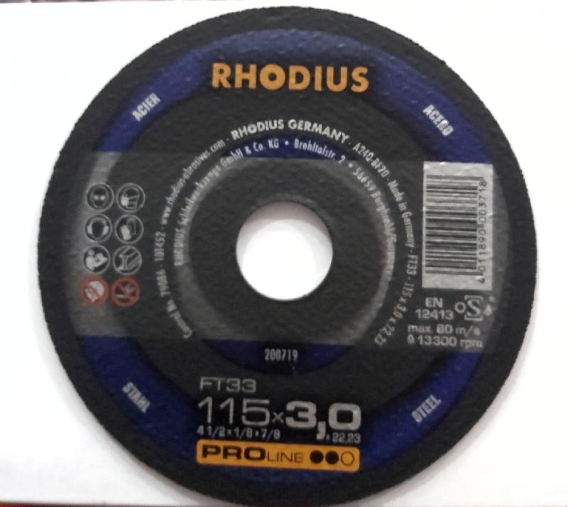 Rhodius kəsmə daşı metal 115x3 pro