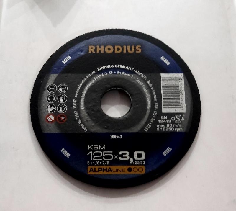 Rhodius kəsmə daşı metal 125x3 alfa