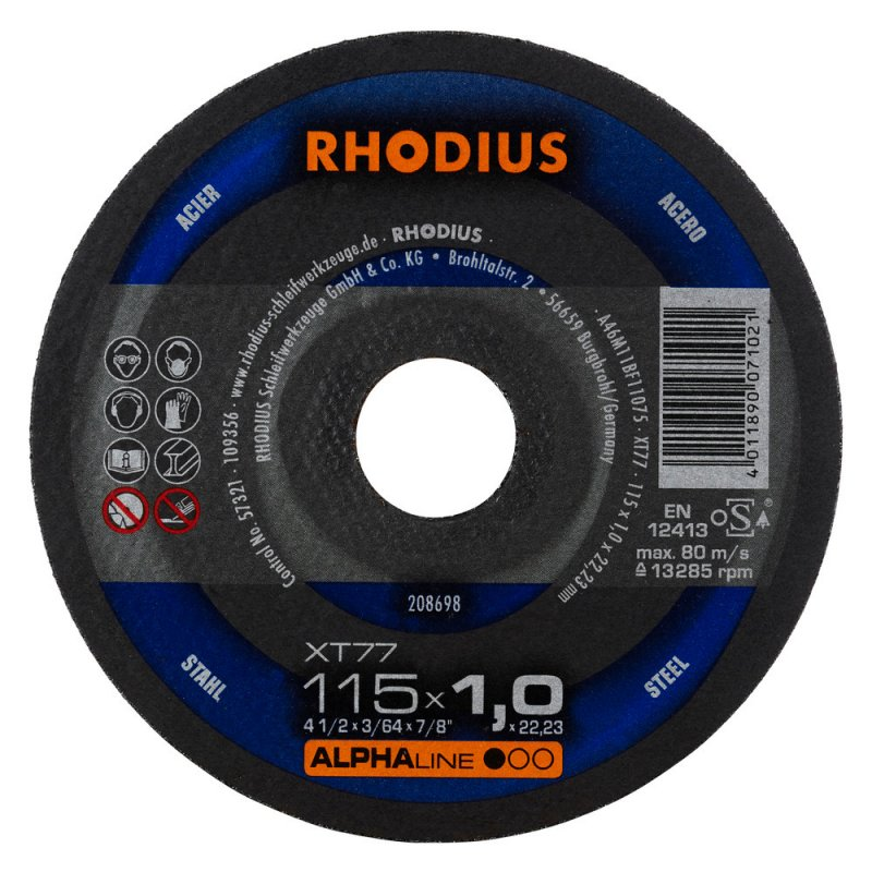 Rhodius kəsmə daşı metal 115x1,0 alfa