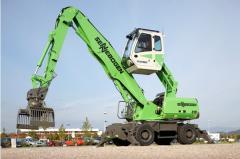 Hydraulic loading cranes