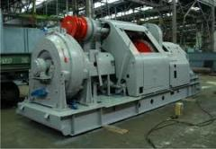 Boring winches with chain transmission