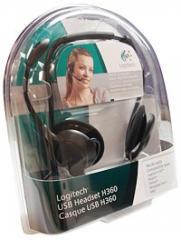 Гарнитуры Headset Logitech USB H360 (Black)