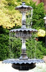 Water purification of fountains