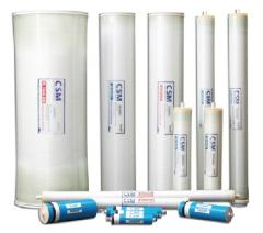 Filters for protection of membranes of reverse