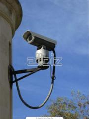 Video cameras of systems of security video of