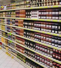 Витрины и полки для супермаркетов
